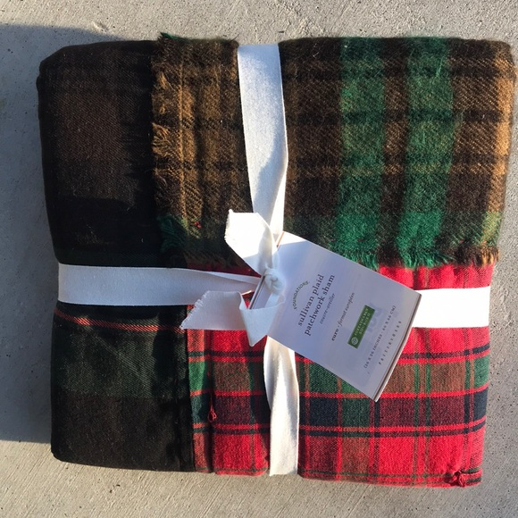 NEW Pottery Barn Sullivan Plaid Patchwork Quilted Standard Sham Pillow Cover NWT
